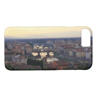 The Arno river and Ponte Vecchio in Florence, iPhone 7 Case