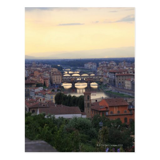 The Arno River and Ponte Vecchio in Florence, Post Cards