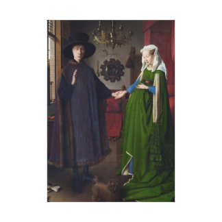 The Arnolfini Marriage (by Jan van Eyck) Gallery Wrapped Canvas