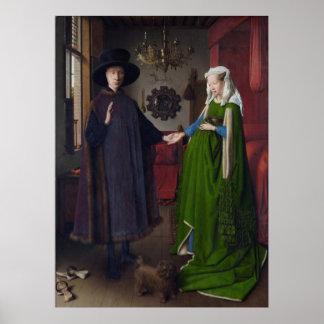 The Arnolfini Marriage (by Jan van Eyck) Posters