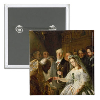 The Arranged Marriage, 1862 15 Cm Square Badge