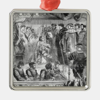 The Arrest of Anne Boleyn Silver-Colored Square Decoration