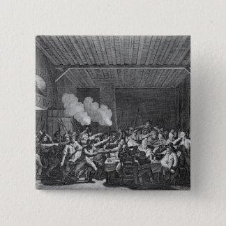 The Arrest of Louis XVI  at Varennes 15 Cm Square Badge