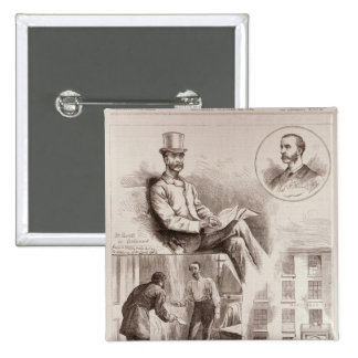 The Arrest of Mr. C.S. Parnell, MP 15 Cm Square Badge