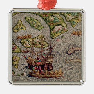 The Arrival and Disembarkation Christmas Ornament