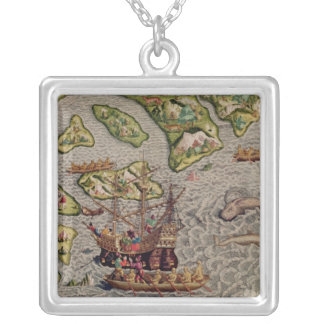 The Arrival and Disembarkation Silver Plated Necklace