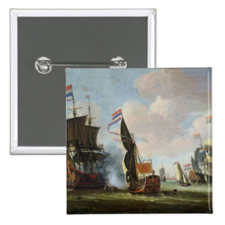 The Arrival Michiel Adriaanszoon Ruyter 15 Cm Square Badge
