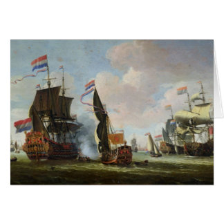 The Arrival Michiel Adriaanszoon Ruyter Greeting Cards