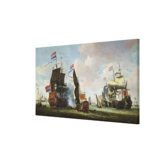 The Arrival Michiel Adriaanszoon Ruyter Gallery Wrap Canvas