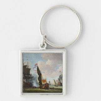 The Arrival Michiel Adriaanszoon Ruyter Silver-Colored Square Key Ring