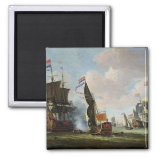 The Arrival Michiel Adriaanszoon Ruyter Square Magnet