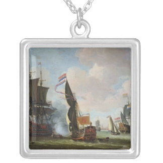 The Arrival Michiel Adriaanszoon Ruyter Square Pendant Necklace