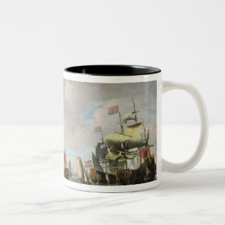 The Arrival Michiel Adriaanszoon Ruyter Two-Tone Coffee Mug