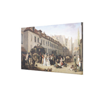 The Arrival of a Stagecoach at the Terminus Canvas Print