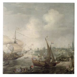 The Arrival of Fredrick V at Vlissingen in 1613 (o Tile