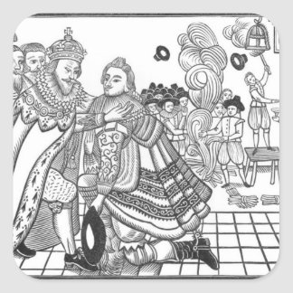 The Arrival of His Majesty Charles (1600-49) Princ Square Sticker