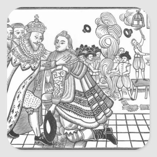 The Arrival of His Majesty Charles (1600-49) Princ Sticker