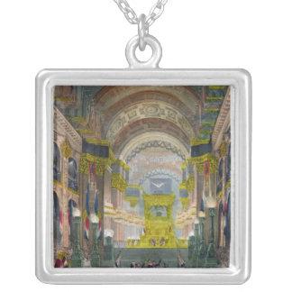 The Arrival of Napoleon's Ashes Square Pendant Necklace