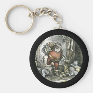 The Arrival of Saint Nicholas Basic Round Button Key Ring