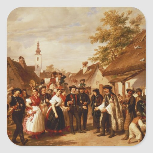 The Arrival of the Bride, 1856 Stickers