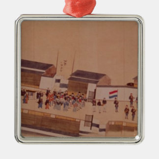 The Arrival of the Dutch in Japan,, 18th century Christmas Ornament