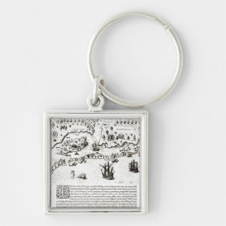 The Arrival of the Englishmen in Virginia Key Ring
