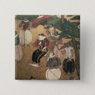 The Arrival of the Portuguese in Japan 15 Cm Square Badge
