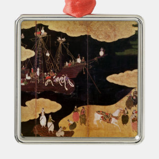 The Arrival of the Portuguese in Japan 2 Christmas Ornament