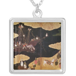 The Arrival of the Portuguese in Japan 2 Silver Plated Necklace
