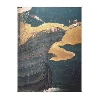 The Arrival of the Portuguese in Japan 3 Canvas Print
