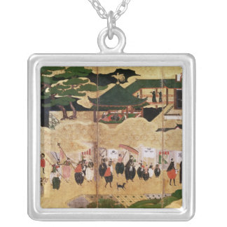 The Arrival of the Portuguese in Japan 3 Silver Plated Necklace