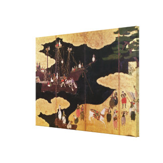 The Arrival of the Portuguese in Japan Canvas Print