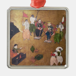 The Arrival of the Portuguese in Japan Christmas Ornament