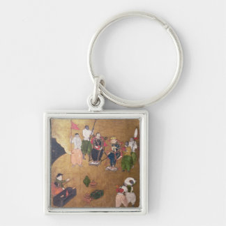 The Arrival of the Portuguese in Japan Key Ring