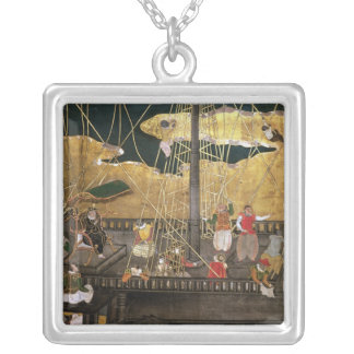 The Arrival of the Portuguese in Japan Silver Plated Necklace