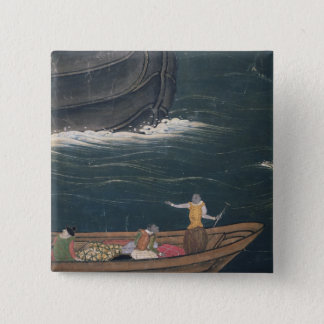 The Arrival of the Portuguese Japan, small cargo 15 Cm Square Badge