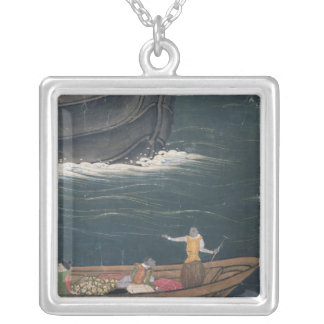 The Arrival of the Portuguese Japan, small cargo Silver Plated Necklace