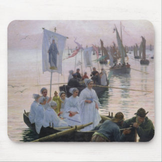 The Arrival of the Procession of St. Anne Mouse Mat