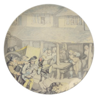 The Arrival of the Stage Coach at the Sun Inn, Bod Plates