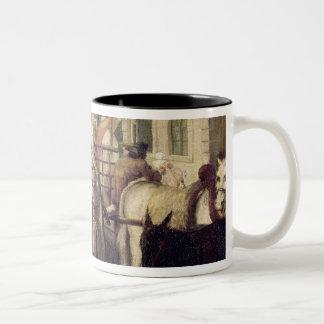 The Arrival of the Wetnurses Two-Tone Coffee Mug