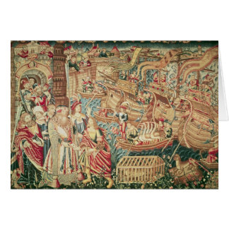 The Arrival of Vasco da Gama  in Calcutta Card