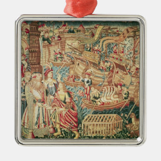 The Arrival of Vasco da Gama  in Calcutta Christmas Ornament