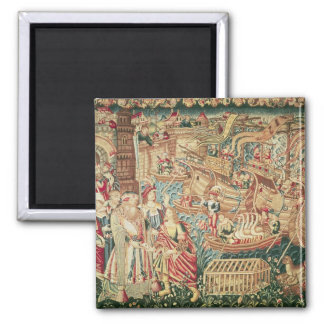 The Arrival of Vasco da Gama  in Calcutta Magnet