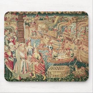 The Arrival of Vasco da Gama  in Calcutta Mouse Mat