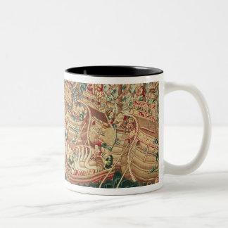 The Arrival of Vasco da Gama  in Calcutta Two-Tone Coffee Mug