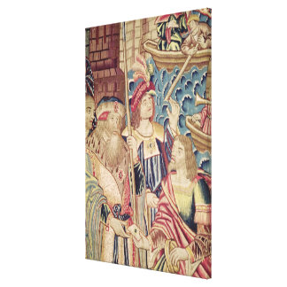 The Arrival of Vasco da Gama  in Calicut Canvas Print