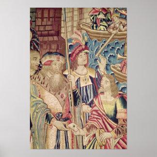 The Arrival of Vasco da Gama  in Calicut Poster