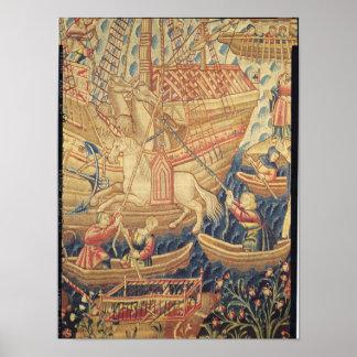The Arrival of Vasco de Gama  in Calicut Poster
