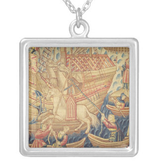 The Arrival of Vasco de Gama  in Calicut Silver Plated Necklace