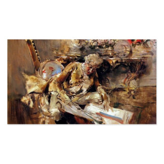 The Art Connoisseur by Giovanni Boldini Pack Of Standard Business Cards